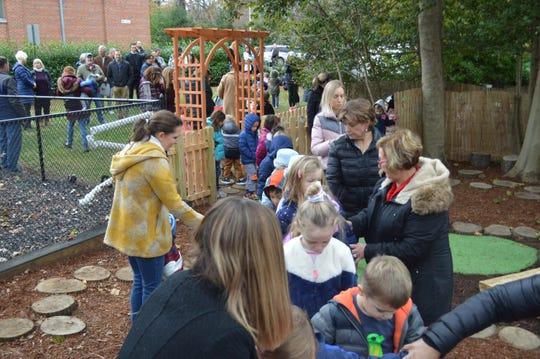 Outdoor preschool classroom will promote environmental learning, imaginative play